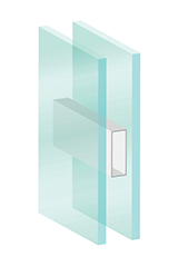Double-paned glass window rendering