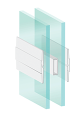 double-paned impact resistant glass