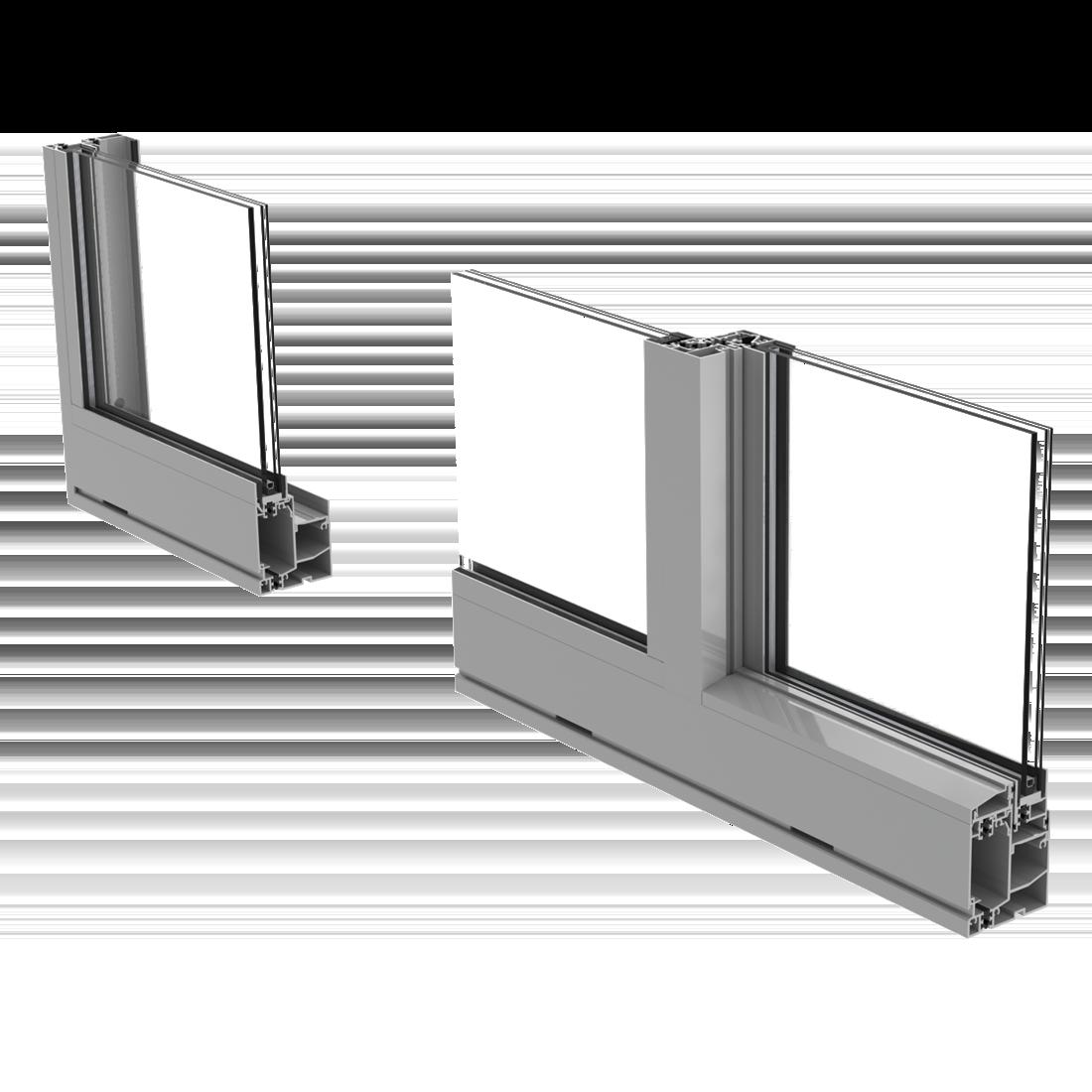 cross section of Prestige ES-SW340 sliding window